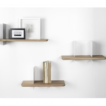 Clip wall shelves