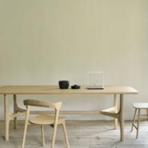50128 Nexus dining table - oak & 51490 Bok chair - oak