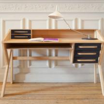 45055 Origami desk, 5 drawers, black