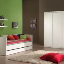LARA CAPTAIN BED+3DR WR WHITE
